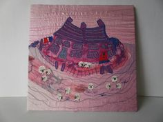 Country Cottages Textile Art by wendieshouse on Etsy