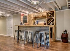 DIY basement home bar design ideas. #homebardesigndiybasement