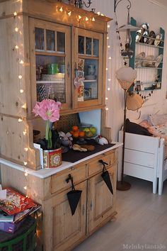 in my element Shabby Home, Village Houses, Jewel Box, Dressers, Place, Boho Decor, Liquor Cabinet, Kitchens, Sweet Home