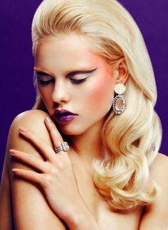 Mai kedvenc #smink #makeup Betty Blue by Viktoria Stutz, via Behance