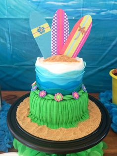 Surfer Girl Birthday Cake. Teen Beach Movie Party. By Love + Cake