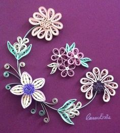 Quilling. Flowers. By Canan Ersöz.