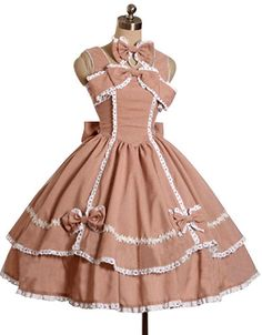 Lolita Dress A Line Square Neck/Long Sleeves with Bow would love in black and white
