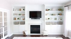 How to Build a Custom Built-in Shelving Unit In this step-by step tutorial and video, we build and install two shelving units around an existing fireplace for a custom built-in look. Home Fireplace, Built In Around Fireplace, Built In Wall Units, Living Room Built Ins, Living Room With Fireplace, Fireplace Bookshelves, Bookshelves Around Fireplace, Living Room Wall Units, Wall Units With Fireplace