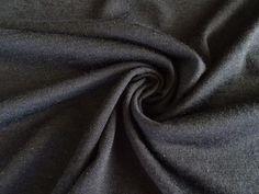 843bc2959d0 Buy merino wool jersey knit fabric by the yard.  www.newzealandmerinoandfabrics.com Jet Black 170g 100% Merino Wool Jersey  Knit 170cm-