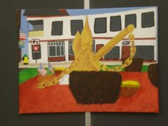 Another example of student work - painting of the Olypant anchor.find a place or object (logo or image) that represents a memory or aspect of your future Student Work, Anchor, Concept, Memories, Logo, Future, Painting, Image, Art