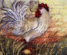 Le Rooster II Art Print by Susan Winget @ Urbanloftart.com