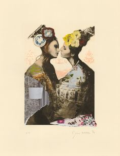 Joshua Burbank Hand-finished two plate photopolymer etching on Somerset Antique 280 gsm archival paper #lgbt