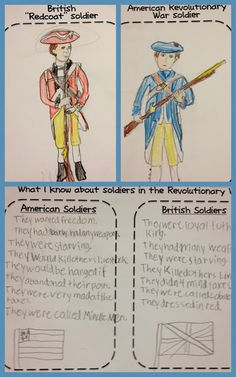 """Free printable for comparison/contrast activity of the Revolutionary War """"Minute Men"""" vs """"Redcoats""""."""