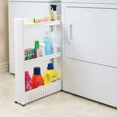 Features:  -Rolling wheels for easy mobility.  -Save storage space with this mobile pull out pantry.  -Can be used in restrooms, kitchens, laundry rooms.  Product Type: -Utility Cart.  Primary Materia
