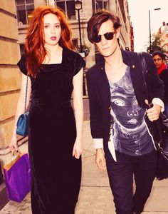 Karen Gillan + Matt Smith