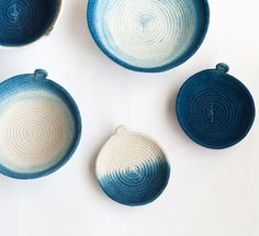 Image of Hand Dyed Indigo Cotton Rope Vessels