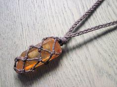 Tangerine Hematite Quartz Necklace