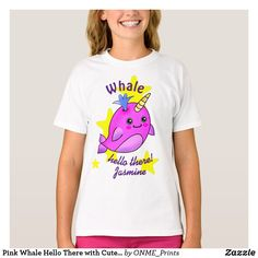 Pink Whale Hello There with Cute Yellow Stars T-Shirt #Onmeprints #Zazzle #Zazzlemade #Zazzlestore #Zazzlestyle #Pink #Whale #Hello #There #Cute #Yellow #Stars #T-Shirt Kawaii Cute, Kawaii Fashion, Cute Designs, Pink Color, Cute Kids, Pretty In Pink, Whale, Fitness Models, Kids Outfits