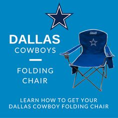 Tailgate In Style With The NFL Dallas Cowboys Cooler Quad Chair, Available  At Shop.dallascowboys.com | The Ultimate Tailgate | Pinterest | Nfl Dallas  ...