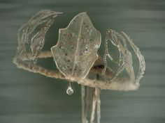 Winter Crystalline Leaf Fairy Crown   The Ark