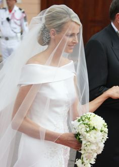 Princess Charlene of Monaco at her religious wedding ceremony on July 2, 2011.