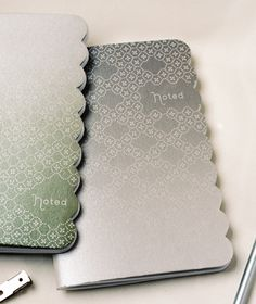 Grey ombre notebook from Oh Joy! I want it.