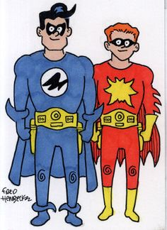 Fred Hembeck Color Sketch Card: Nightwing & Flamebird (Superman/DC)1/1 in Collectibles, Comics, Original Comic Art | eBay