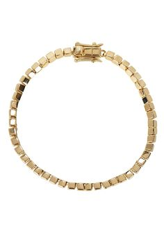 Eddie Borgo gold-plated bracelet Cube links Clasp fastening Presented in a designer-stamped pouch