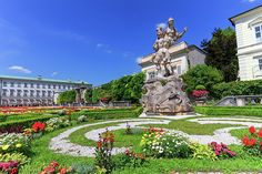 How to spend one day in Salzburg, Austria. On this guide, you will learn what to see and do in Salzburg in one day including the Hohensalzburg Castle, Mirabell Gardens, the Cathedral and more. Salzburg Austria, Austria Travel, Famous Places, Train Rides, One Day, Spring Break, Morocco, Travel Photos, Palace