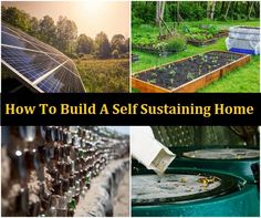 Having a self-sustaining home is a great way to save money and be eco-friendly. Food can be grown in a garden and you can use solar power for electricity. Green Building, Building A House, Natural Building, Earthship Home, Eco Friendly House, Natural Life, Natural Living, Natural Foods, Sustainable Living