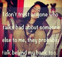I don't trust anyone