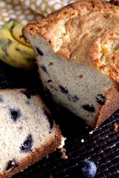 Blueberry Cream Cheese Banana Bread