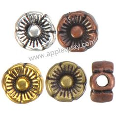 Zinc Alloy Flower Beads,Plated,Cadmium And Lead Free,Various Color For Choice,Approx 6*3.5mm,Hole:Approx 1.5mm,Sold By Bags,No 001777
