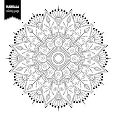 Find Monochrome Ethnic Mandala Design Antistress Coloring stock images in HD and millions of other royalty-free stock photos, illustrations and vectors in the Shutterstock collection. Mandala Doodle, Mandala Art, Mandala Drawing, Moon Mandala, Mandala Design, Mandala Pattern, Zentangle Patterns, Embroidery Patterns, Free Adult Coloring Pages