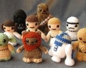 Tiny crochet Star Wars! I only have three more to make, and then I'll have the whole set!
