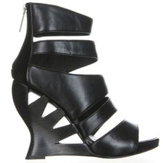 """New in box Donald Pliner cut out wedge heels 7 Nappa leather upper Back zipper entry 4.5"""" cutout wedges 3/4"""" platform rise Comes with dustbag Donald J Pliner Shoes Heels"""