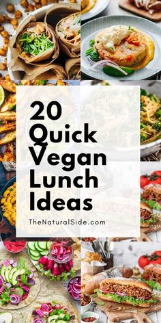 Looking for some healthy and easy vegan lunch ideas? Check out these 20 Quick Vegan Lunch Recipes that are Perfect for Meal Prep. lunch ideas 20 Quick Vegan Lunch Ideas Perfect for Easy Meal Prep Easy Vegan Lunch, Quick Healthy Lunch, Vegan Lunches, Vegan Meal Prep, Easy Meal Prep, Vegan Recipes Easy, Easy Meals, Quick Easy Vegan Meals, Easy Healthy Vegetarian Recipes