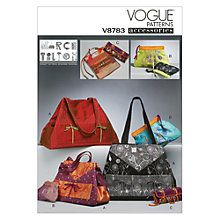 Buy Vogue Women's Tote and Zip Case Sewing Pattern, 8783 Online at johnlewis.com