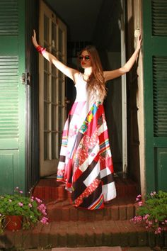 A Chilean Designer rocking patchwork, boho chic all the way