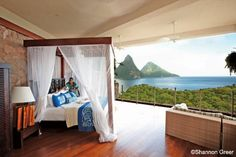 the Ladera resort near the Pitons in St. Lucia -- suites seem to run from $650 for the smallest in off-season to $2000/night for the largest in high season.  So, say $1000/night... ;)
