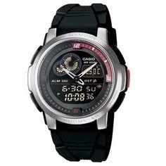f61af319df3 Relógio Masculino Anadigi Casio AQF-102W-1BVDF - Preto http   compre