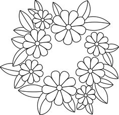 Hand Embroidery Patterns Free, Embroidery Flowers Pattern, Glass Painting Patterns, Fabric Painting, Bordado Popular, Graphic Design Portfolio Examples, Flower Coloring Pages, Applique Quilts, Patch Quilt