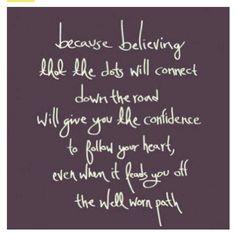Believing.