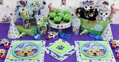 Puppy themed birthday supplies