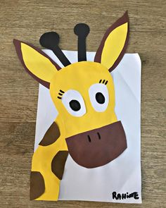 Animals Art Projects For Kids Zoo Preschool Jungle, Jungle Crafts, Giraffe Crafts, Tiger Crafts, Giraffe Art, Preschool Crafts, Animal Art Projects, Animal Crafts For Kids, Toddler Crafts