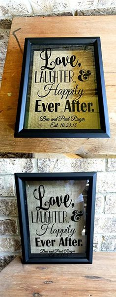 Love, Laughter, and Happily Ever After-Wine cork holder can be used as a alternative guest book, great wedding gift
