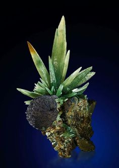 One of the most beautiful olive-green colored Prase Quartzes with Hematite on matrix that have ever been found in Serifos, Greece. credit: Saphira Minerals