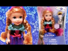 Frozen movie Disney princess Anna doll is wearing a pink tiara and stands 6 inches tall and includes Olaf and a pink hair comb. Young Anna doll comes with br. Disney Princess Cinderella, Frozen Princess, Frozen Movie, Disney Frozen, Rainbow Toys, Prince Hans, Frozen Dolls, Olaf Snowman, Doll Toys