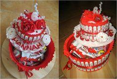 Kreative Torte aus Süßigkeiten zum Kindergeburtstag basteln