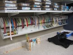 Rain Gutter to store ribbon