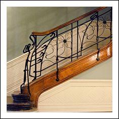 Rampe de l'escalier de la Casa Montero (Bilbao)