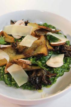 """Het lekkerste recept voor """"Tarwe met groene kruiden en boschampignons"""" vind je bij njam! Ontdek nu meer dan duizenden smakelijke njam!-recepten voor alledaags kookplezier! Herbs For Health, Blenders, Healthy Dishes, Vegetarian Recipes, Grains, Salads, Pork, Veggies, Beef"""