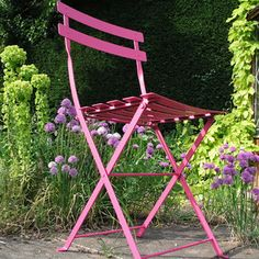 Classic French bistro folding chair
