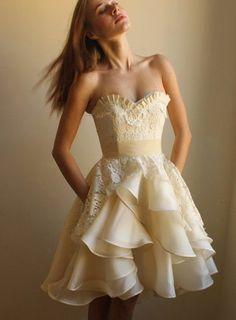 cute short Strapless dress
